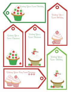 Dollhouse Bake Shoppe: FREE Christmas Printables, Gift Tags & Homemade Gift Ideas