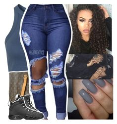 """""""if you looking for me, you can catch me *hotspot* cameras flashing"""" by lamamig… Lit Outfits, Jordan Outfits, Dope Outfits, Summer Outfits, School Outfits, Urban Fashion, Teen Fashion, Fashion Looks, Fashion Outfits"""