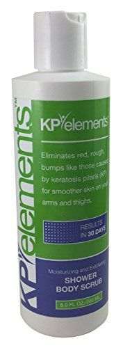 KP Elements Body Scrub  Keratosis Pilaris Treatment  Clear up Red Bumps on Your Arms and Thighs by combining this KP Scrub with Our KP Treatment Cream 1 *** For more information, visit image link.