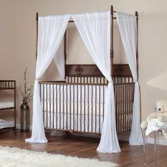 Bratt Decor Wrought Iron Indigo 2 in 1 Convertible Crib Collection - Venetian Gold - Baby Cribs at Hayneedle Crib Bedding, Canopy Crib, Harry Potter Nursery, Nursery Themes, Nursery Ideas, Project Nursery, Nursery Decor, Room Ideas, Room Decor