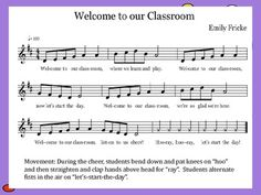 5 procedural songs (beginnings, transitions, and endings) for the elementary classroom