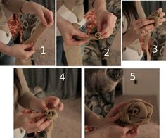 burlap flower how-to