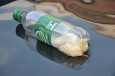"Baking soda boat - it moves through the water on the ""power"" of baking soda!  Easy kids science experiment"