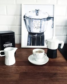 Kiss me and make me coffee - poster Kitchen Art, V60 Coffee, Kiss Me, Coffee Maker, Kitchen Appliances, Etsy, Bar Carts, How To Make, Photos