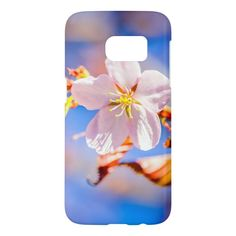 Pink Sakura Flower Blue Sky Samsung Galaxy S7 Case - tap, personalize, buy right now! #SamsungGalaxyS7Case  #japanese #cherry #blossom #sakura #flower Sakura Cherry Blossom, Blossom Flower, Samsung Galaxy S7 Case, Custom Photo, Plastic Case, Galaxies, Japanese, Sky, Phone Accessories