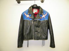 MEN'S AVIREX LEATHER MOTORCYCLE JACKET STATE CALIFORNIA SIZE 7 1992 XLNT COND #AVIREX #MOTORCYCLEJACKET