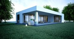 Family house BALA was designed based on investor ideas. Architecture enveloped a plan and created a modern house. Modern Family House, Home And Family, Family Houses, Four Rooms, Modern Bungalow, Roof Types, Flat Roof, Wood Construction, Home Projects