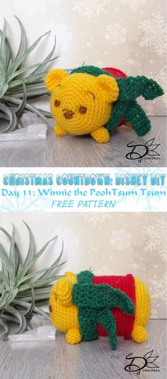Pooh's Turn! I hope you will enjoy this free pattern Amigurumi pattern of This Winnie The Pooh Tsum Tsum
