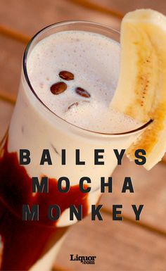 This decadent dessert made from chocolate syrup, banana and vanilla ice cream gets spiked with some delicious Baileys. This cocktail is bananas. B-A-N-A…you get where this is going.