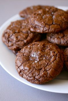 Salted double chocolate chunk cookies ~  what a combo!