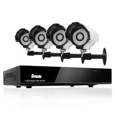 Zmodo 4CH Video Security DVR Home Surveillance CCTV Camera System With 4 Sony CCD Night Vision IR Security Camera No HD by ZMODO. $145.00. Overview This kit includes a 4 CH H.264 DVR and four night vision outdoor security cameras . All cables and power supplies are included.  View Your Camera Footage from Anywhere in the World With this system, you are able to know what is happening at your home or business wherever and whenever you want. You have the power to access you...