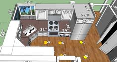 Kitchen - Right Side - Rough Sketch