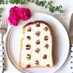 Cupcake toast by reco (@k.kimreco)
