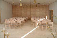 modern church in lichtenberg austria wittmann chairs architecture lightcolors