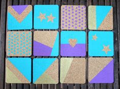 How to Create Chic and Colorful Cork Coasters | Brit + Co.