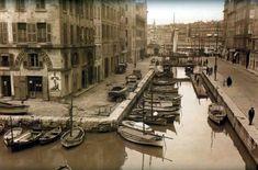 Le canal de la douane, comblé en 1929 il laisse place aujourd'hui à la Place aux Huiles, au Cours Estienne d'Orves et au Cours Jean Ballard