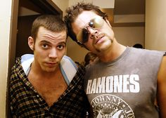 Johnny Knoxville and Steve-O