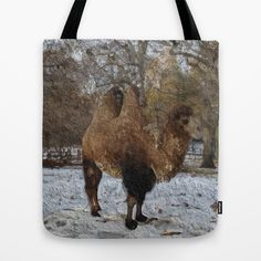 Glazed #camel painting No.8083 Tote Bag - $22.00
