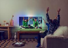 Den nye 8109-serien fra Philips er en full-HD TV med firesidig Ambilight og Androidmotorisert innside. Smart Tv, Flat Screen, Android, Twitter, Decor, Pictures, Decoration, Flat Screen Display, Decorating