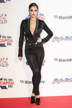 Nice Fashion & Style for  Cheryl Cole Wearing Balmain  Capital FM Jingle Bell Ball O2 Arena .