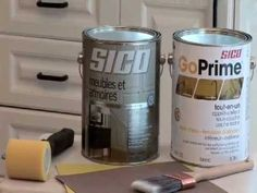 Comment repeindre les armoires de cuisine avec Sico - YouTube