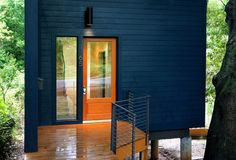 This 950 sq. ft. small house was designed for a family by Rusafova Markulis Architects. It's called The Blue House and was created specifically for their clients needs. Since the home is insp…