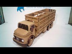 Caminhão boiadeiro de papelão - YouTube Diy Jewlery Box, Origami Lotus Flower, Jet Engine, Cardboard Art, Toy Trucks, Paper Models, Paper Toys, Rc Cars, Easy Drawings