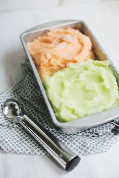 Melon Sorbet (without an ice cream machine!)