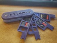Swiss Army Style SD Holder (Expandable)(Raspberry adaptors) by Dranoweb - Thingiverse