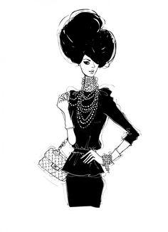 49 trendy fashion sketches black and white drawing megan hess Megan Hess Illustration, Illustration Mode, Fashion Illustration Sketches, Fashion Sketches, Fashion Drawings, Trendy Fashion, Love Fashion, Fashion Art, Fashion Design