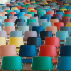Chairs In A Mix Of Colors