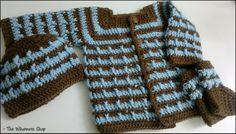 Baby Boy's Sweater, Booties & Hat Set