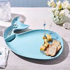 Blue Whale Serving Platter and Appetizer Picks