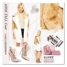 """Cropped Faux Fur Coats"" by ilona-828 ❤ liked on Polyvore featuring ASOS, Laura Mercier, Cross, women's clothing, women's fashion, women, female, woman, misses and juniors"