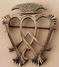 """cute couple's tattoo idea. The Luckenbooth brooch was so called because it was sold from the """"locked booths"""" on the Royal Mile adjacent to St. Giles Cathedral in Edinburgh, Scotland,in the early 1700s. Traditionally, it was exchanged between lovers on betrothal."""