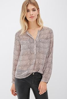 Dotted Chiffon Blouse | Forever 21 - 2000081377