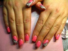 acryl gel zebra glitter