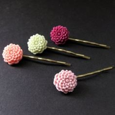 Colorful bobby pins for celebrating spring!