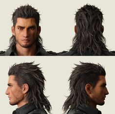 latest You are in the right place about Rock Style women Here we offer you the most beautiful pictures about the Rock Style curvy you are looking for. When you examine the latest p Mullet Haircut, Mullet Hairstyle, Final Fantasy 15 Gladiolus, Men Hair Color, Final Fantasy Art, Long Black Hair, Rock Style, Haircuts For Men, How To Look Better