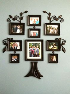 Family Tree Picture Frame Wall Hanging - The versatility of image frames to enhance office or your home is truly powerful a Family Tree Wall Decor, Family Tree Picture Frames, Family Tree With Pictures, Family Tree Photo, Frame Wall Decor, Tree Wall Art, Frames On Wall, Family Trees, Family Photos