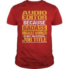 Awesome Tee For Audio Editor - #zip up hoodie #chunky sweater. SECURE CHECKOUT => https://www.sunfrog.com/LifeStyle/Awesome-Tee-For-Audio-Editor-138384916-Red-Guys.html?68278