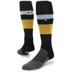MLB Stance 2017 Spring Training Stripe Diamond Pro OTC On-Field Tube Socks - Black/Yellow
