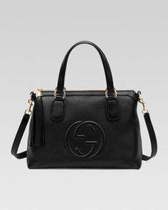 ShopStyle.com: Gucci Soho Leather Top Handle Bag, Black $1,680.00