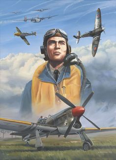 Ww2 Aircraft, Military Aircraft, E Boat, Tuskegee Airmen, Flying Ace, Aircraft Painting, Ww2 Planes, Battle Of Britain, Fighter Pilot