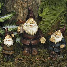 Garden Gnomes in brown