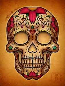 Dia De Los Muertos Candy Skull  Jimmy Duong Art  Design
