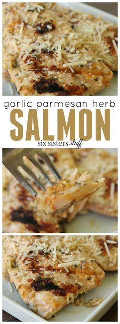 Garlic Parmesan Herb Salmon recipe. A delightfully healthy dinner option.