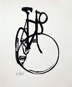 Bicycle Art  Old Style Track Bike  Abstract by bicyclepaintings, $20.00