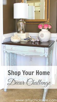 Shop Your Home - Decor Challenge - First of Three #makeover #decor #decorating artsychicksrule.com (6)