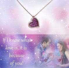 If I know what love is, it is because of you   Show your love » bit.ly/1SCrqtj  #Silber #Halskette #Herz #Valentinstagsgeschenk #Rosegold Pearl Necklace, Pendant Necklace, What Is Love, Pink, Passion, Rose Gold, Pearls, Jewelry, Stones